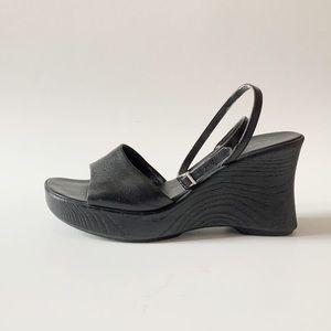 2000s chunky Stuart toe wedge platforms size 9